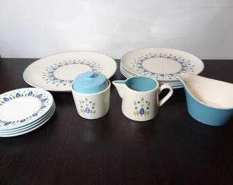 Vintage Stetson Marcrest Swiss Chalet or Swiss Alpine Dinnerware - Set of 12