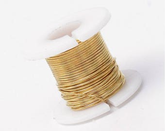 spool of 50 meters of gilded copper wire 0.3 mm