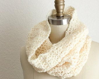 Large Tube Cowl Cream *** Price already MARKED DOWN 20% ***
