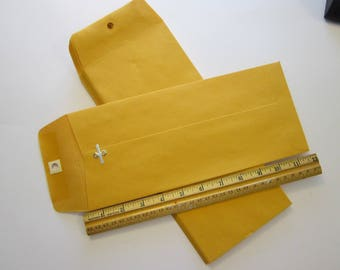 10 long clasp envelopes - 5 x 11.5 inches