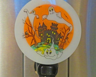 Halloween NLs 3 Choices - Fused Glass Ghosts - Scarecrow - Witch - All 3 Made & Ready to Ship