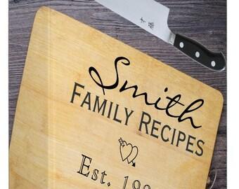 Personalized -Cutting Board Recipe Binder