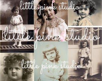 Little Darlings 01,  Printable Collage Sheet (digital download, printable)