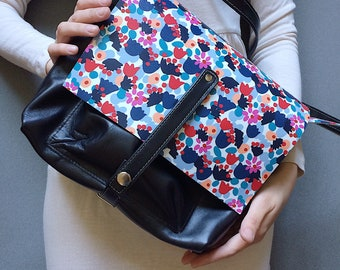 Bag, Leather Messenger Bag, Cross Body Messenger Bag, Small Patterned Shoulder Bag, Everyday Bags, Handbags,Bags, Floral Leather Bag, Women