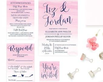 Wedding Invitation PDF, Wedding Invitations Packages Deals, Wedding Invitations With RSVP On Website, Wedding Invitation Suites Printable