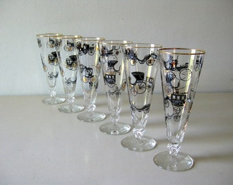 Vintage 1960s barware Vintage tall glasses