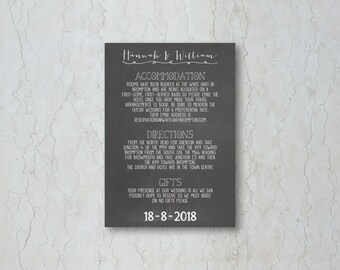 Chalkboard Wedding Insert