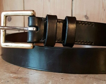 """1.25"""" Bridle leather belt,Morar Hand stitched Leather Belt with Solid Brass Buckle, Black Leather belt, Brown leather belt, bridle leather"""