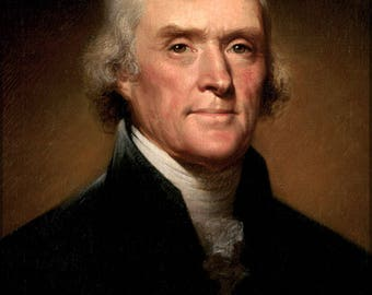 Poster, Many Sizes Available; Thomas Jefferson By Rembrandt Peale, 1800