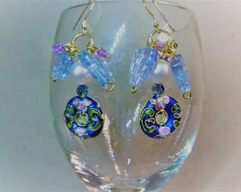 Glamourous Cloisonne Earrings, Beautiful Earrings