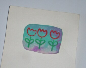 Tulip Pin, Tulip Brooch, Tulip Flower Pin, Tulip Flower Brooch, Spring Tulip Jewelry, Easter Tulip Jewelry, Flower Jewelry