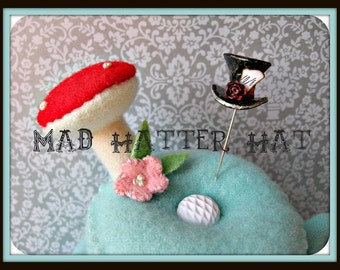 SALE Mad Hatter Hat Pin Topper