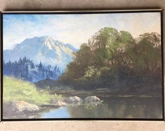 Segundo Huertas Signed Original Landscape Oil Painting