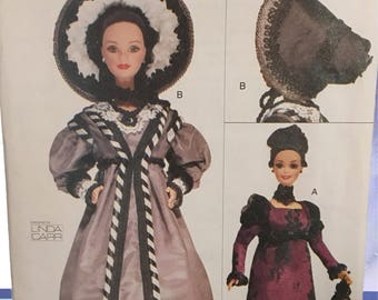 Linda Carr Historical Fashion Doll Clothjng Pattern circa 1820 & 1830