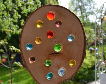 Wood Sun Catcher 21 cm-Birch Natural