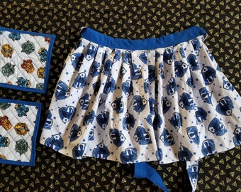 Ravenclaw Half-Apron with Potholders
