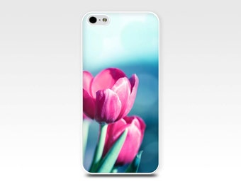 floral iphone case 5s tulips iphone 6 case iphone 4s case photography flower iphone case 4 iphone 5 botanical iphone case pink teal girly