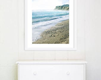 "Montauk Long Island Beach Photography // Large Beach Print // Seaside // Turquoise Teal Aqua Blue Wall Art Print for Modern Home ""Montauk"""