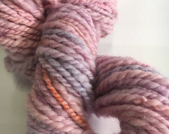 Handspun hand dyed yarn wool 50 metres