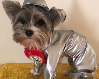 Custom made tinman costume for small dogs