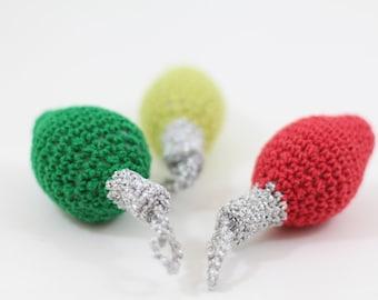 Christmas Light Bulb PDF Pattern, Amigurumi Christmas Ornament Tutorial, crochet Patterns