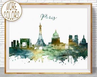 Paris Decor Paris Print Paris Skyline Paris France Paris Poster Paris Art Print Office Gifts ArtPrintZone