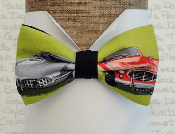 Bow ties for men, Jaguar and Austin Healey pre tied bow tie