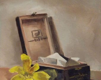 "Memory Box Painting 8""x10"" Digital Print"