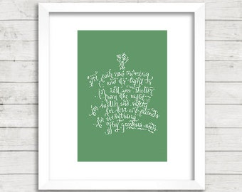 Print: Prayer of Thanks - R.W. Emerson Quote