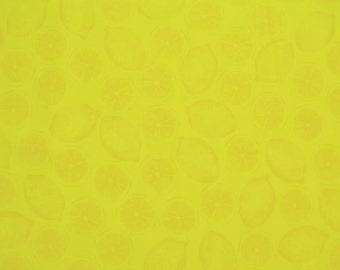 Lemons in Yellow on pale Yellow  from Benartex