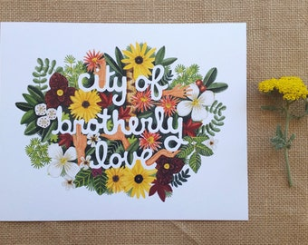 8 x 10 City of Brotherly Love - Art Print