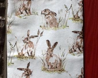 Versatile Hare Rabbit print Lined Tote Bag