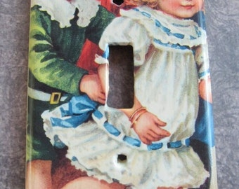 victorian BOY AND GIRL light switch plate