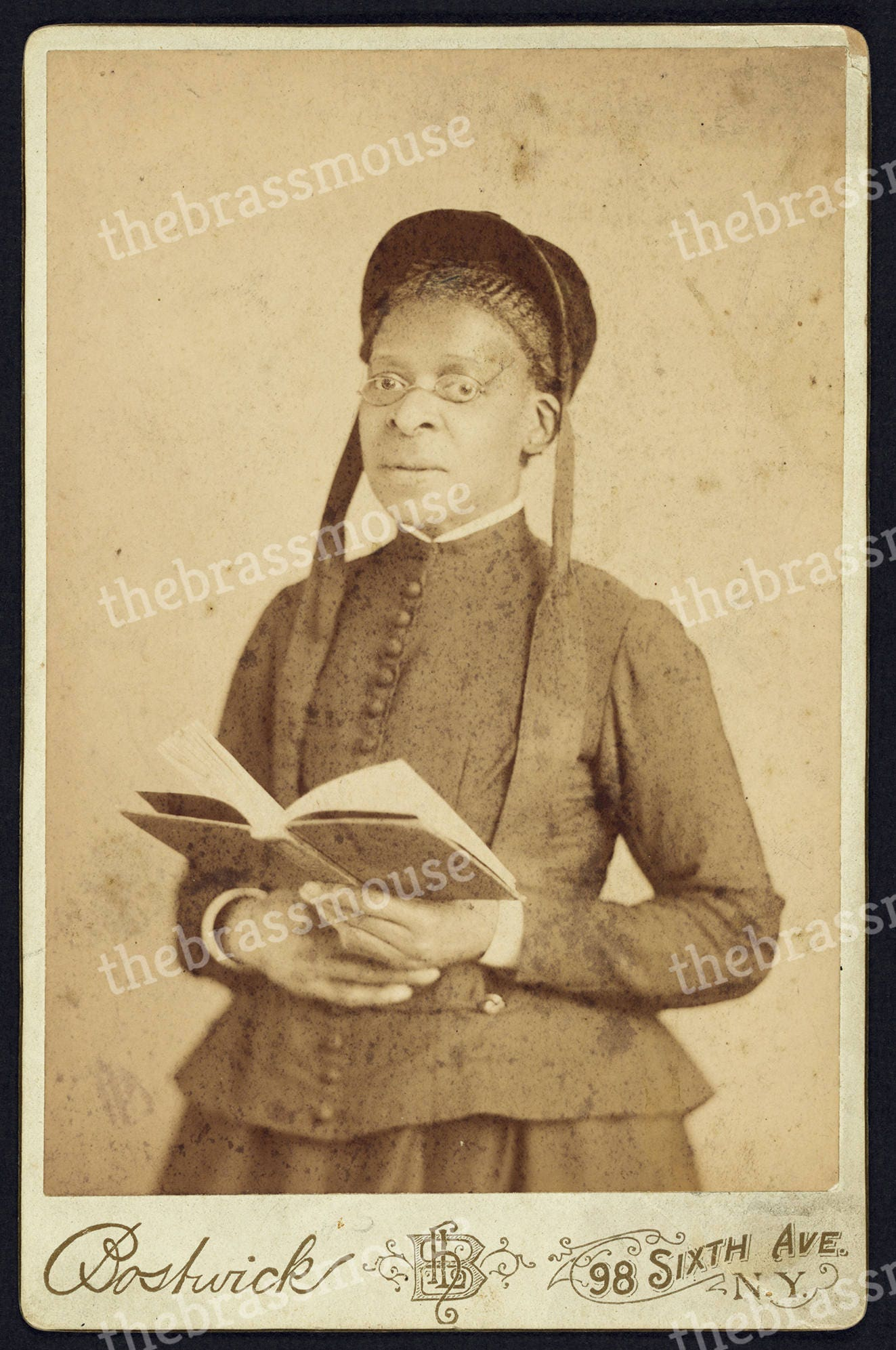 Woman Teacher Gift African American Vintage Portrait Instant