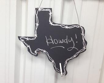 Texas decor chalkboard