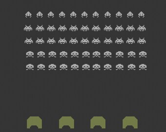Space Invaders cross stitch pattern