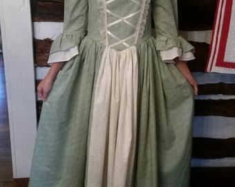 Custom Child Girl Williamsburg Colonial Dress Costume Size 3 to 14