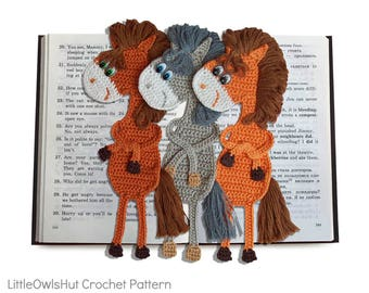 025 Crochet Pattern - Horse Ge-Ge Decor or Bookmark - Amigurumi PDF file by Zabelina Etsy