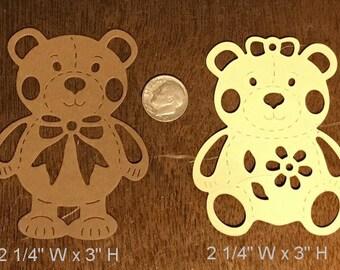 Die Cut Mr & Mrs Bear Set of 2