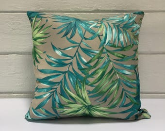 Tropical Palm Frond Outdoor Cushion