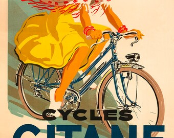 Cycles Gitane Bicycle Poster (#0206) 6 sizes