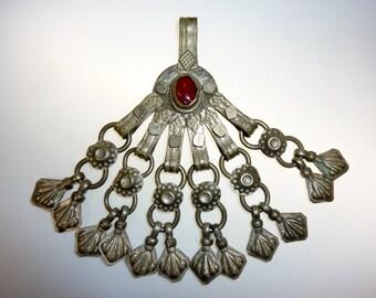 Big Kuchi-Tribal-Pendant, Vintage Metal-Tribal-Pendant