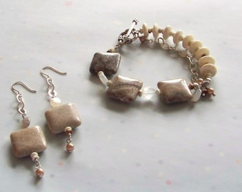 Chama Bracelet and Earrings