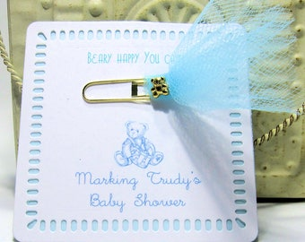 Baby Shower Favors - Journal Marker- Set of 10 - Bookmark - Personalized - Custom - Unique