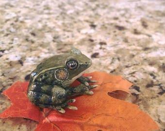Clay Frog Figurine