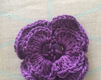 Button Flower Brooch