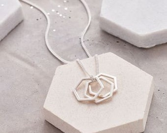 Large Hexagonal Charm Necklace