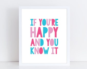 Nursery rhyme printable / Nursery rhyme art / Printable nursery art / Kids printable / Kids wall art / Printable art / Typography print