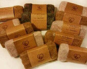 Felted soaps - Natural soaps - Essential oils - Wedding favor - Gift set - Alpaca fiber - soft, felted, hand-cut - Set of 12 - Great gift