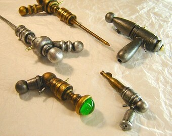 Wood Ray Gun Necklace Pendant Christmas Tree Ornament Dangle Petes Pistol